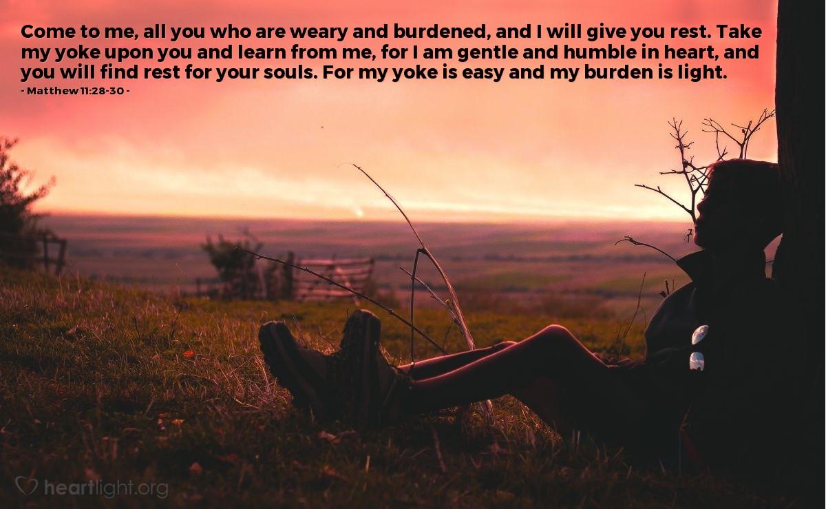 Matthew 11:28-30